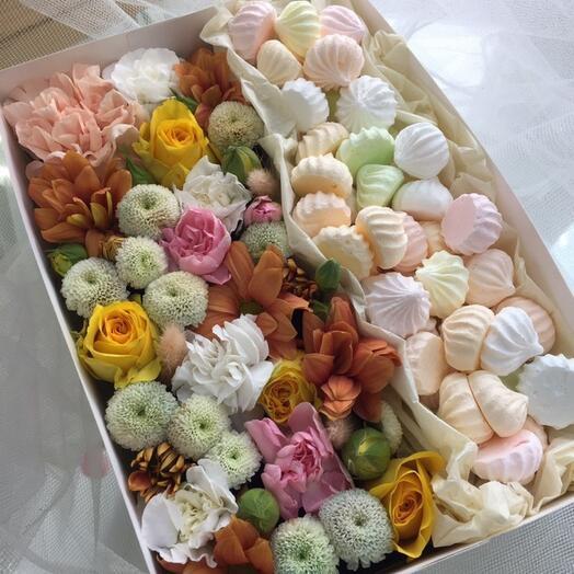 Цветы с безе