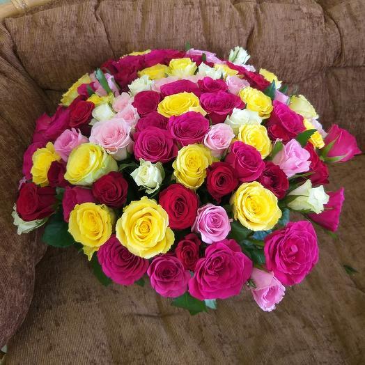 101 роза: букеты цветов на заказ Flowwow