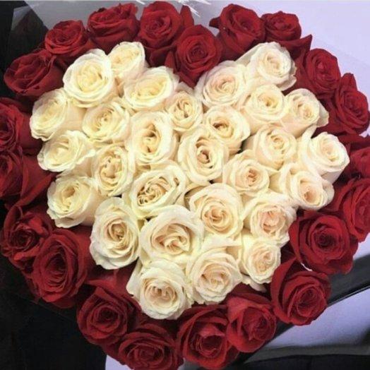 Горячее сердце: букеты цветов на заказ Flowwow
