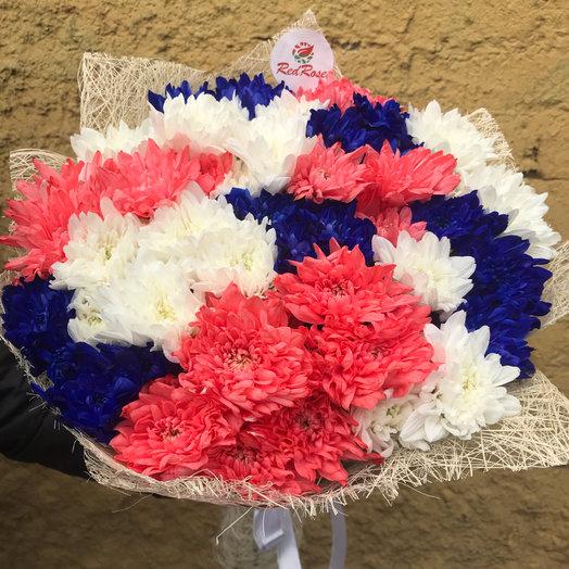 Букет из 15 веточек Хризантем Микс: букеты цветов на заказ Flowwow