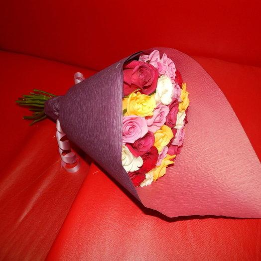 31 роза разноцвет: букеты цветов на заказ Flowwow