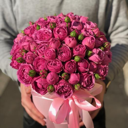 31 Мисти Баблс в Шляпной коробке: букеты цветов на заказ Flowwow