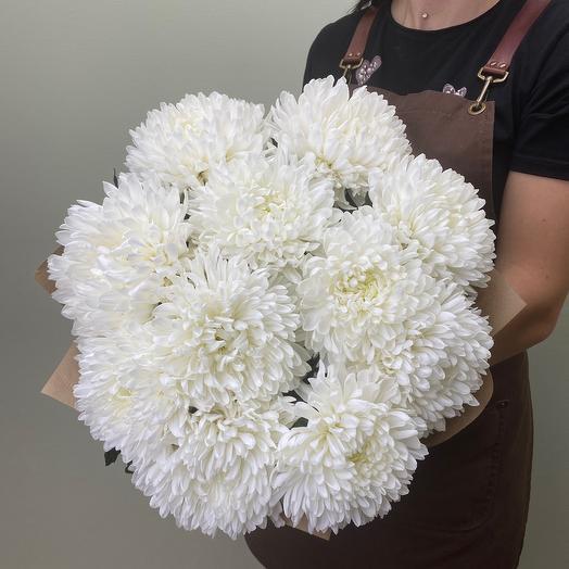 Букет из 11 одноголовых хризантем