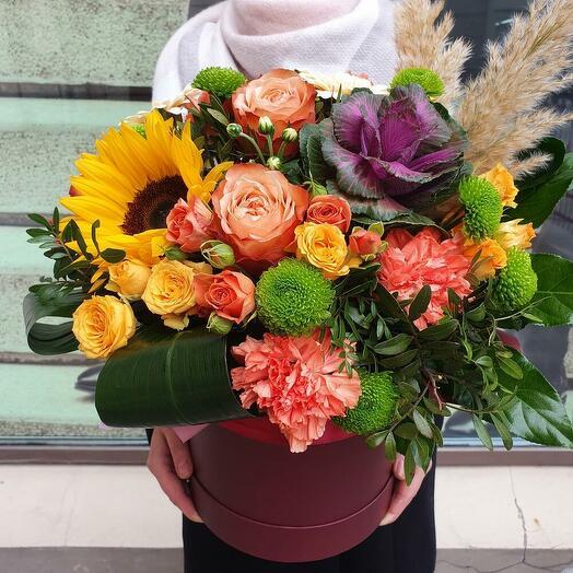 """Цветы в коробке """"Осень"""""""