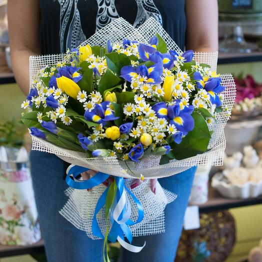"Букет цветов ""Цитрусовые ноты"": букеты цветов на заказ Flowwow"