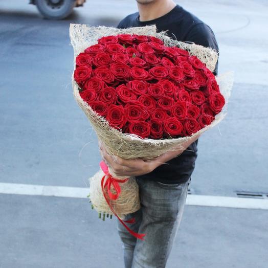51 Красная роза, Ред Наоми: букеты цветов на заказ Flowwow